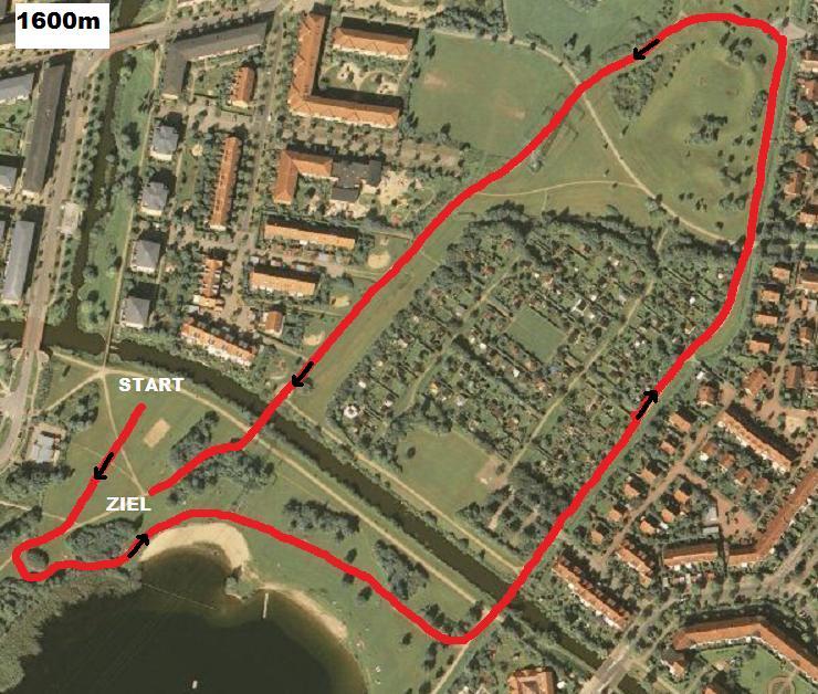 Crosslauf Streckenplan 1600m