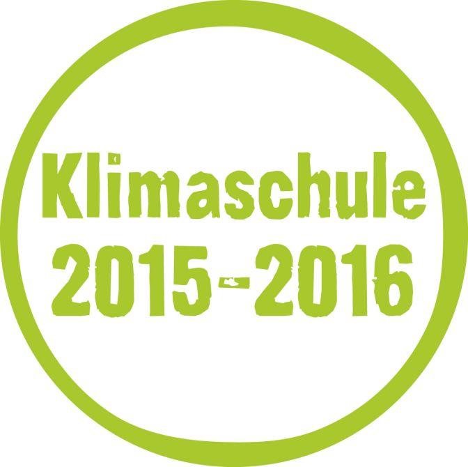 Klimaschule 2015-2016 Gütesiegel