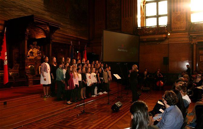 Chor im Rathaus