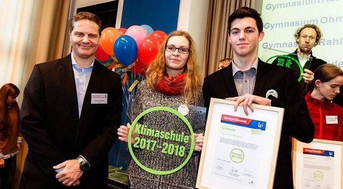 Gütesiegelverleihung Klimaschule 2017-2018