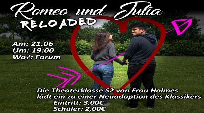 Romeo und Julia reloaded – Mittwoch 21.06. 19 Uhr im Forum