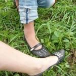 ohne Stiefel durch Brennesseln