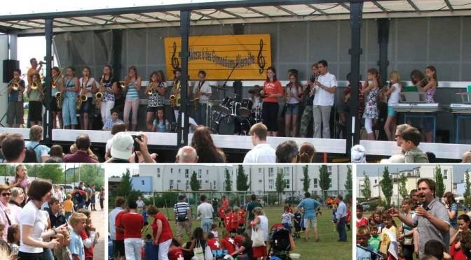 Musikklasse spielt bei der Mini-Fußball-WM