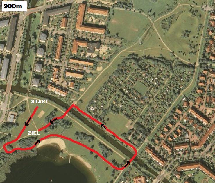 Crosslauf Streckenplan 900m