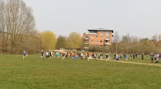 Sonnenschein und gute Stimmung beim Crosslauf