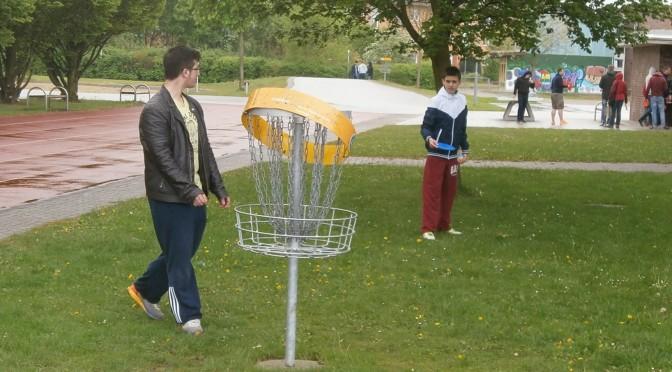Golf mit einer Scheibe