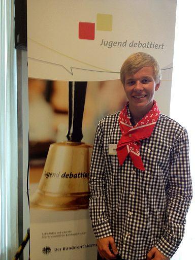 Maxime Jugend debattiertt Finale in Berlin
