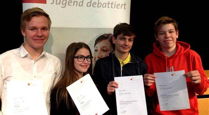"""Erneuter Erfolg beim Regionalwettbewerb """"Jugend debattiert"""""""